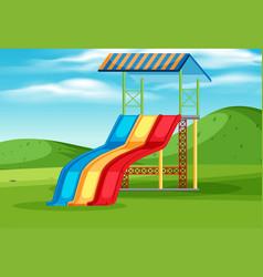 slide playground equipment in nature vector image
