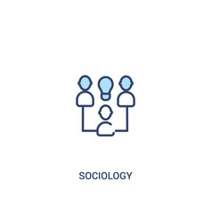 Sociology concept 2 colored icon simple line vector