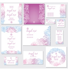 Template for wedding cards vector