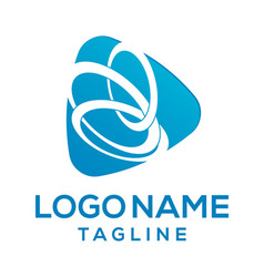three ring company logo design vector image