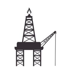 Tower flame fire industry vector