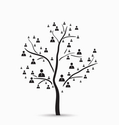 Tree with human vector