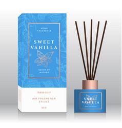 Vanilla home fragrance sticks abstract vector