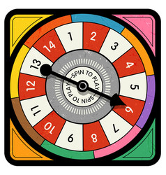 Vintage spinner for board game with spinning arrow vector