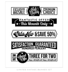 Vintage Typographic Business Banner vector