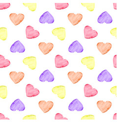 Watercolor hearth pattern vector