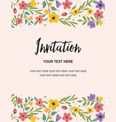 Wedding party and anniversary invitation card vector