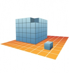 cube boxes vector image vector image