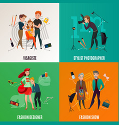 fashion industry concept vector image vector image
