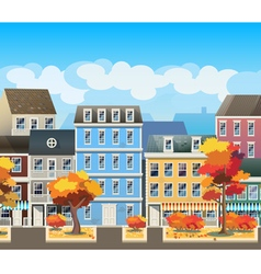 Old town in autumn vector image