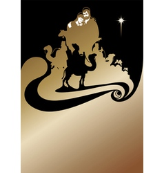 wise men gold vector image
