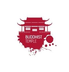 Buddhist Church and splash vector image