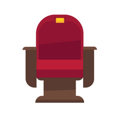 comfortable armchair in cinema isolated on white vector image vector image