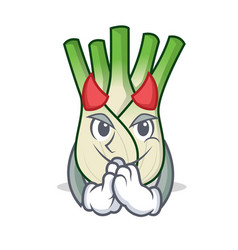 devil fennel mascot cartoon style vector image vector image