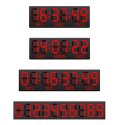 digital countdown timer 04 vector image
