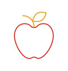fresh fruit apple food market icon vector image vector image