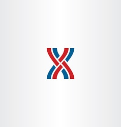 interlaced letter x logo icon vector image vector image