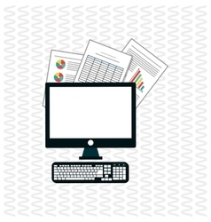 responsive web and infographic vector image vector image