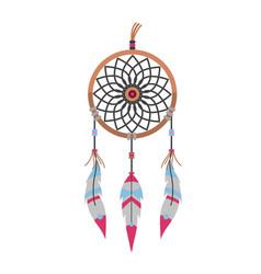 tribal decoration bohemian dreamcatcher boho vector image vector image