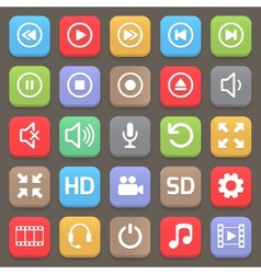 Video interface icon for web or mobile vector image vector image
