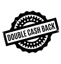 Double cash back rubber stamp vector