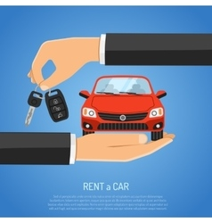 Rent Car Concept vector image vector image