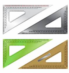 set of drafting triangles vector image vector image