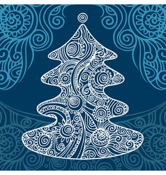 stylish christmas tree vector image