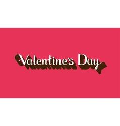 Valentines Day lettering emblem vector image vector image