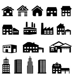 building and house architecture vector image vector image