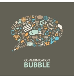 communication bubble vector image vector image