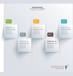 paper square timeline infographic vector image vector image