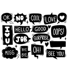 0040 hand drawn background set cute speech vector