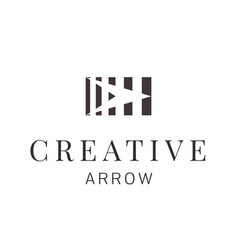 abstract square with arrow inside logo design vector image