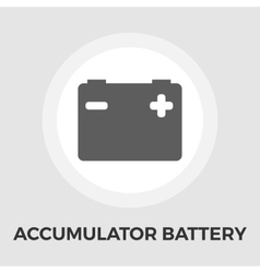 Accumulator Battery Flat Icon vector image