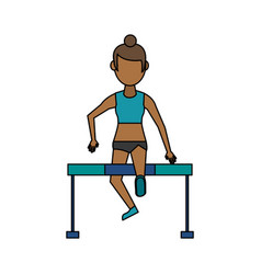 Athlete sport avatar icon image vector