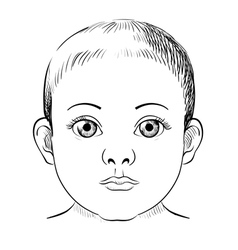 Baby portrait sketch vector image