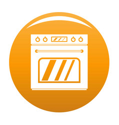 Big gas oven icon orange vector