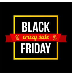Black friday sale card modern banner template vector image