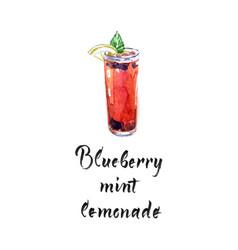 blueberry mint lemonade vector image
