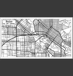 Boise usa city map in retro style outline map vector