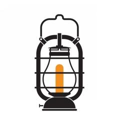 Camping Lantern or Gas Lamp vector