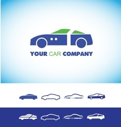 Car shape logo vector