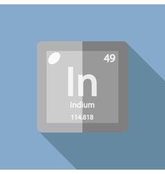 Chemical element Indium Flat vector image
