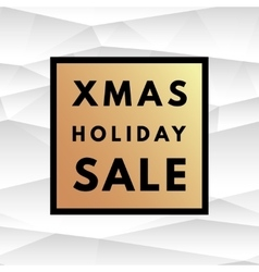 Christmas holiday sale poster vector image