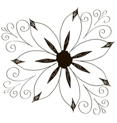 Curled flowers ornament collection vector
