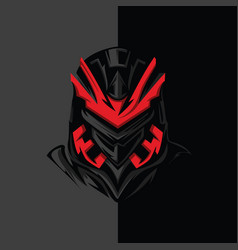 Dark red assassin vector