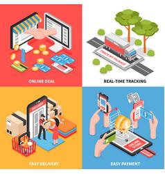e-commerce concept isometric design vector image