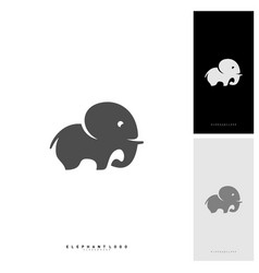 elephant logo design template vector image