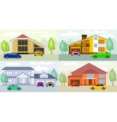 Family homes vector image